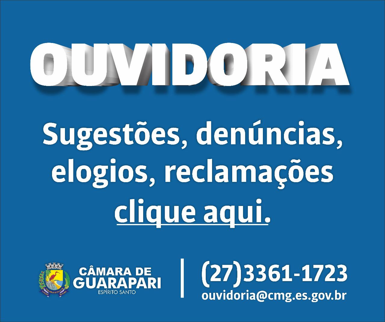 Fale com a Ouvidoria!
